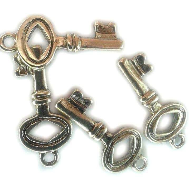 Charms chiave stile tibetano mm 12x29