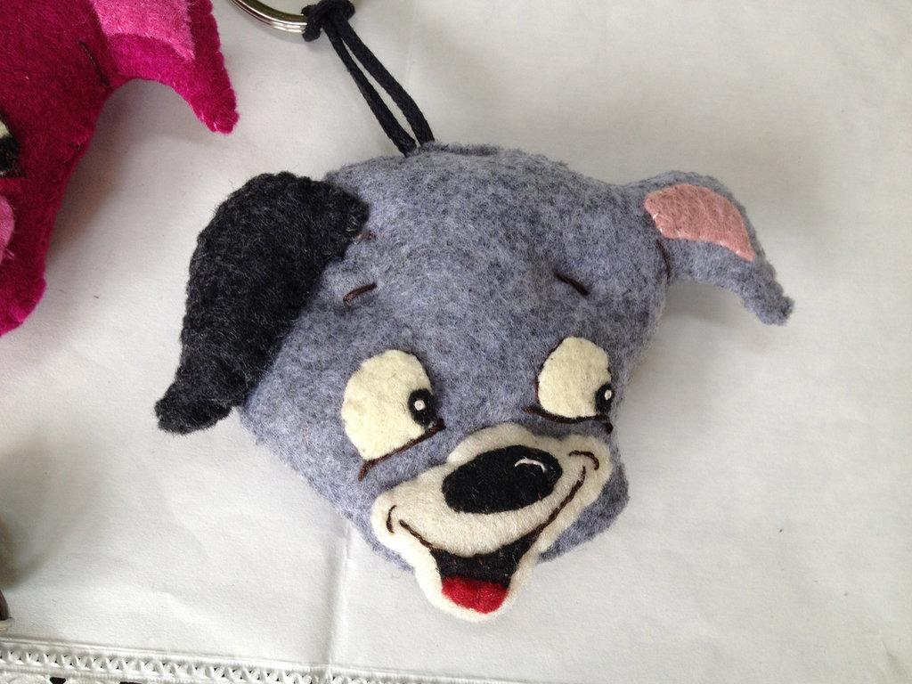 portachiavi cagnolino in panno lana