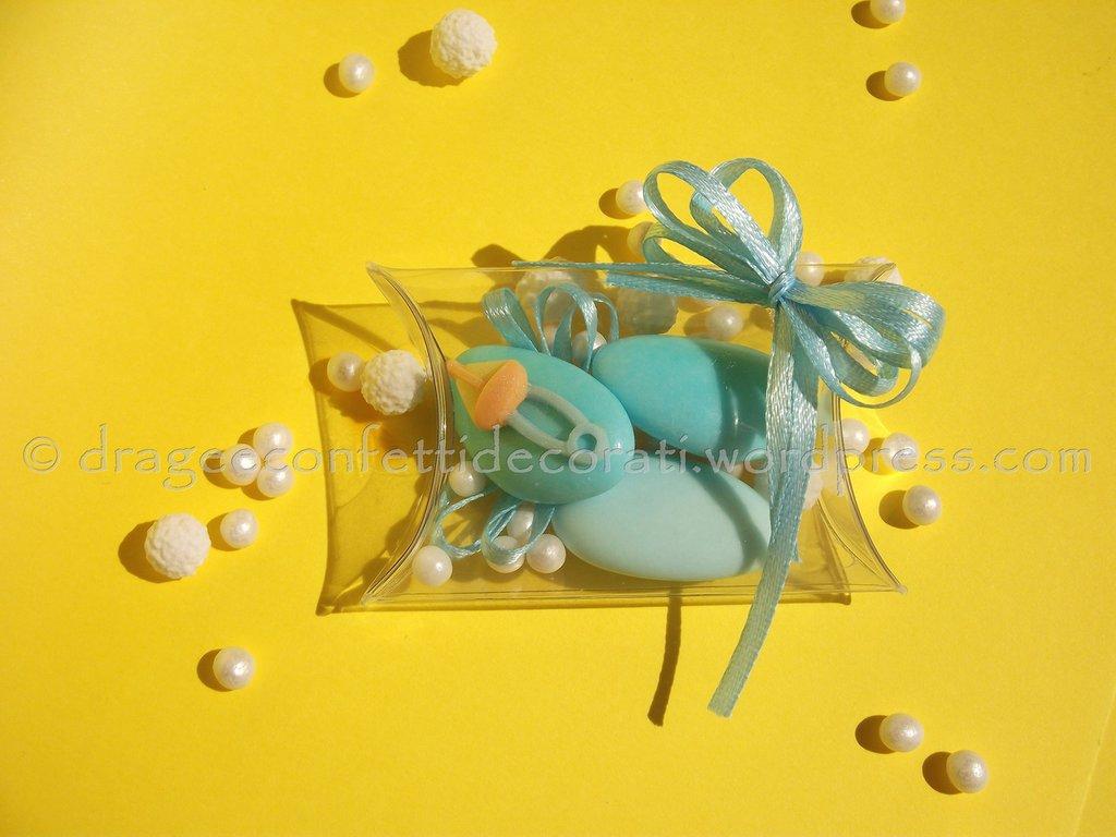 bomboniera battesimo bambina o nascita bambina con confetti decorati
