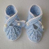 scarpine neonato ad uncinetto