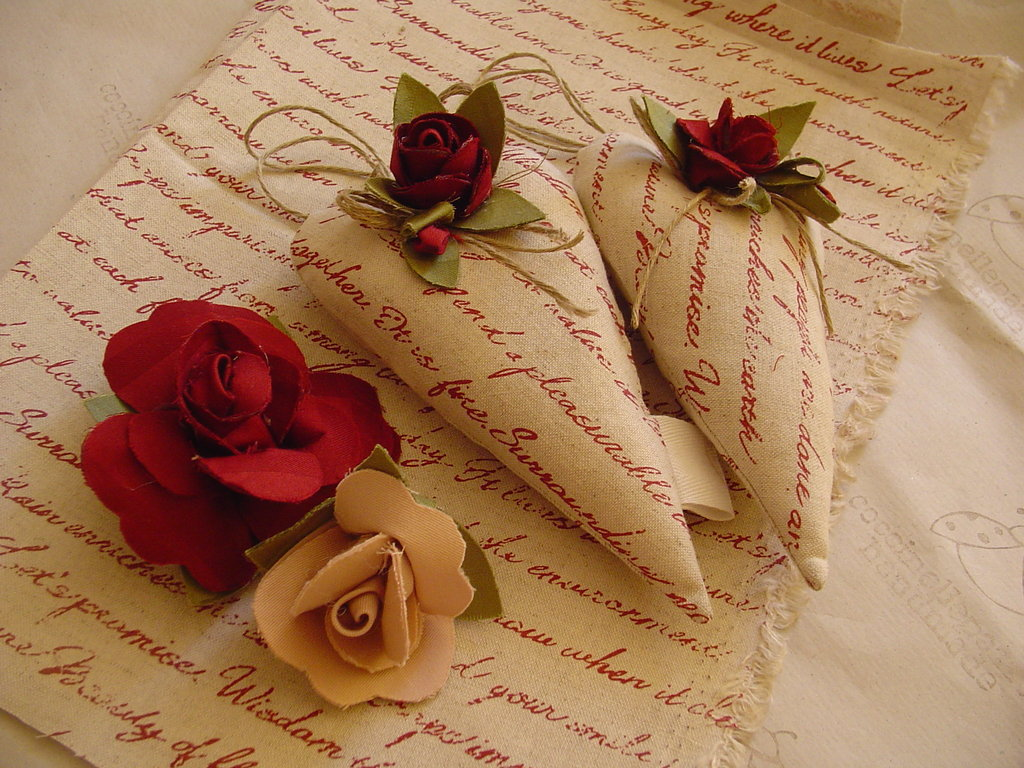 CUORI PROFUMATI TILDA LOVE LETTER AND ROSES