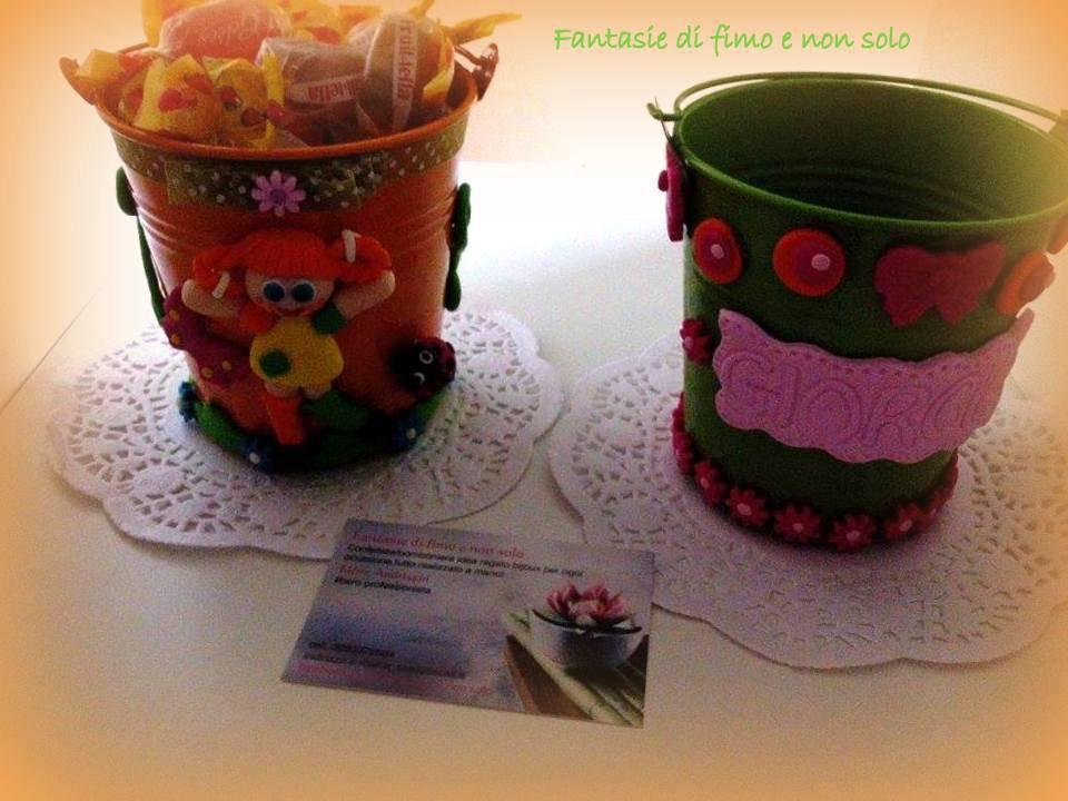 Vasi decorati a tema per festa di compleanno bimbi