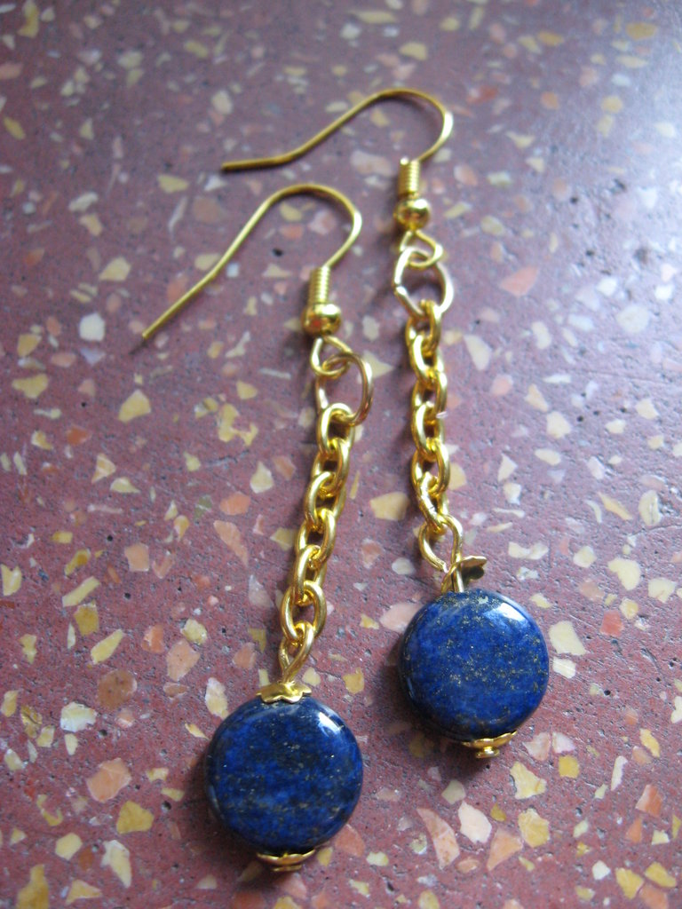 orecchini catenella oro