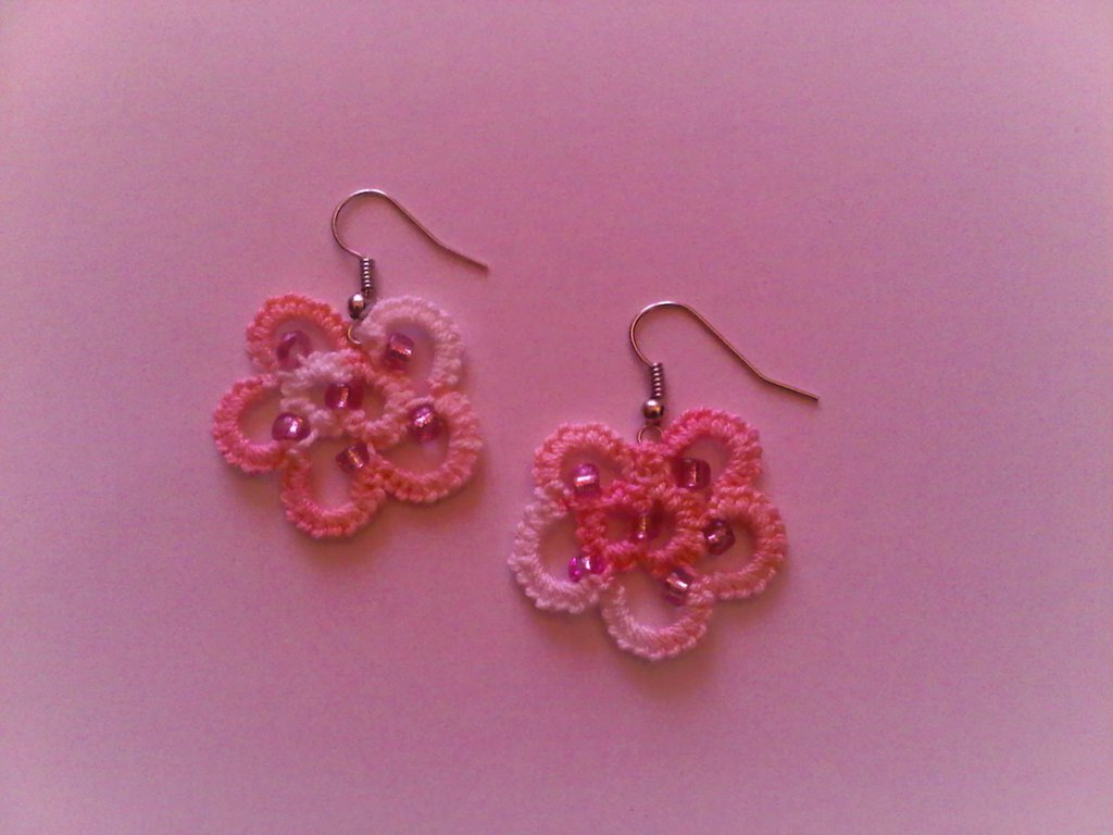Orecchini fiore rosa