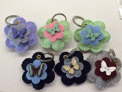 Portachive fiore in panno