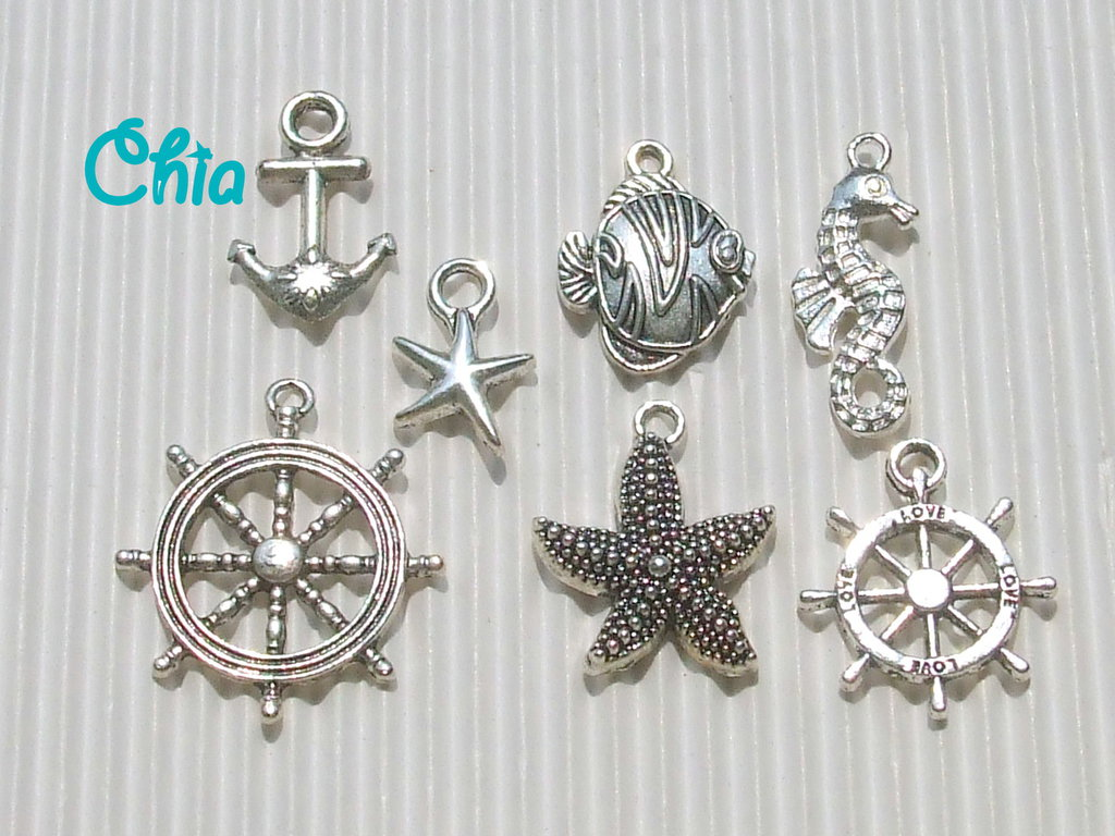 set 7 charms marinari
