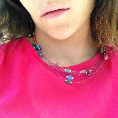 Collana cavi multicolor