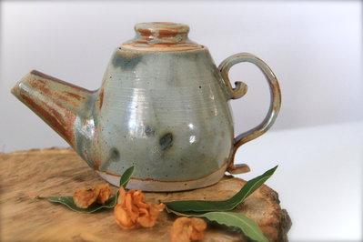 Teiera rustica e romantica, colori autunnali, 1 tazza