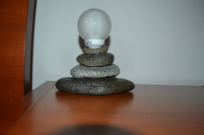 "Abat-Jour di pietra ""Piramide"" - Provenienza geografica 46.361773, 10.355451"
