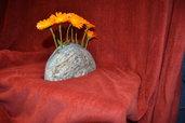 """Centro tavola di pietra """" 7 Fiori"""" / Vaso portafiori – Provenienza geografica 46.361773, 10.355451"""