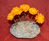 """Centro tavola di pietra """" 5 Fiori"""" / Vaso  - Provenienza geografica 46.361773, 10.355451"""