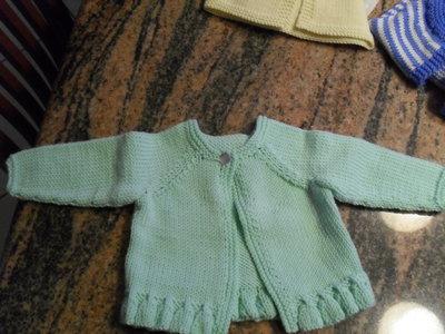 coprifasce verde acqua neonata con voulant