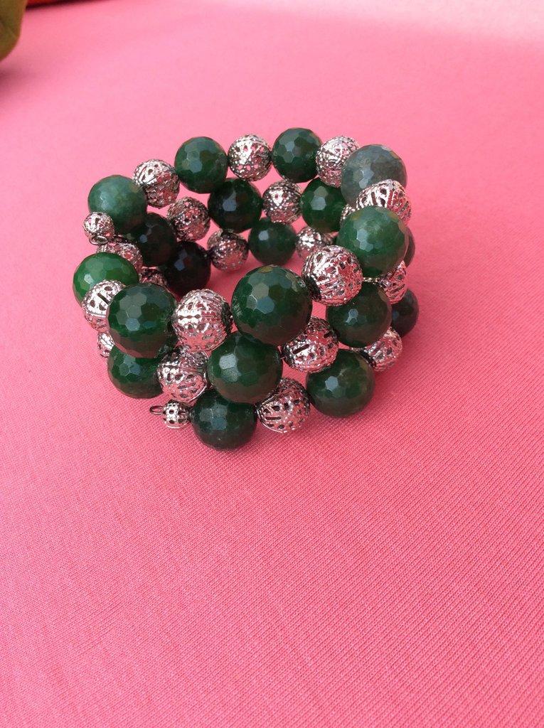Bracciale verde armonico
