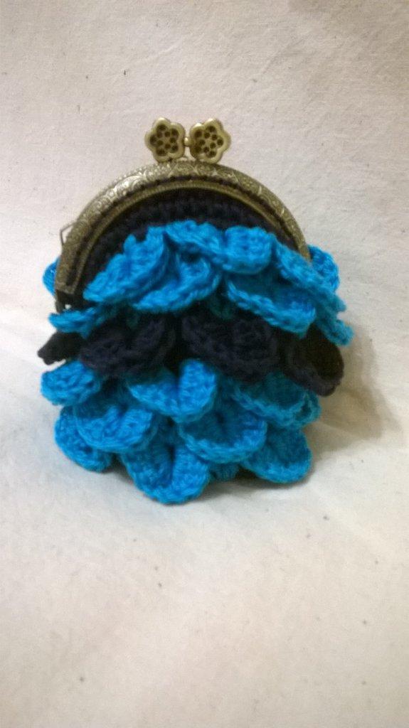 portamonete turchese e blu