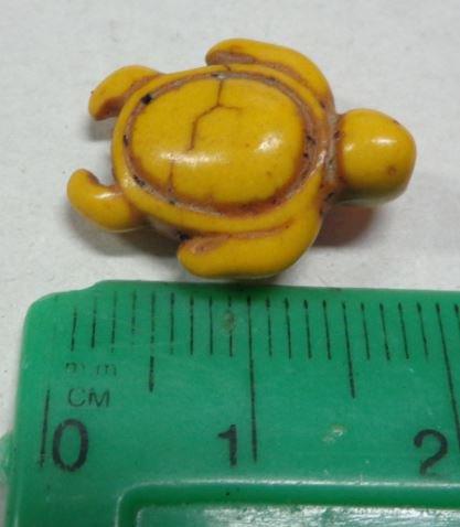 10 Perline Tartarughe colore GIALLO