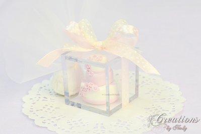Bomboniera con Wedding Cake in Fimo