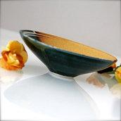 Ciotolina bicolore con decorazione