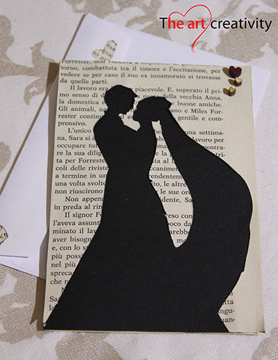 """Biglietto """"Storia d'amore_sposi innamorati"""""""
