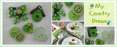 "Bottoni Artigianali ""Green Bouquet"""