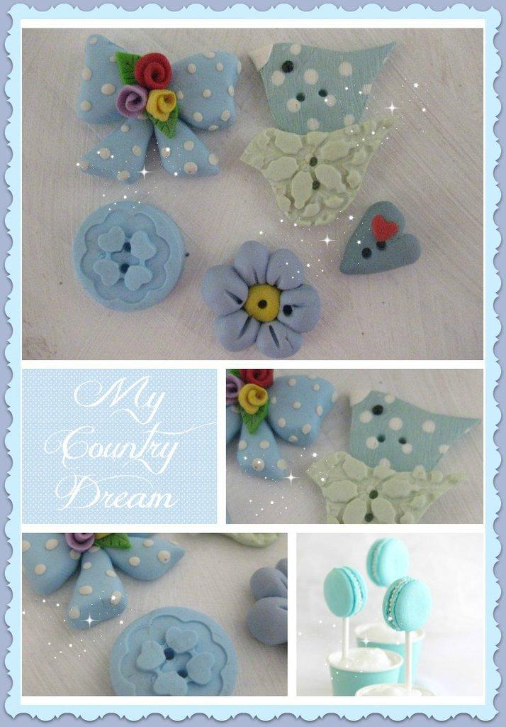 "Bottoni Artigianali ""Azur Bouquet"""