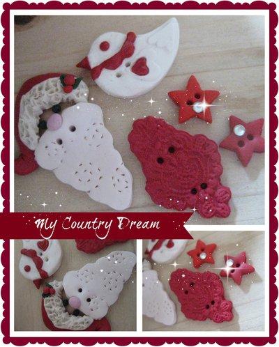 "Bottoni Artigianali "" Merry Christmas"""