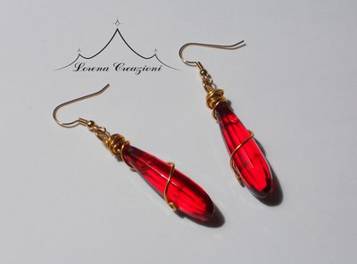"Orecchini ""Red drop"""