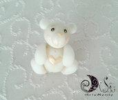 Bomboniera battesimo orsetto bianco completa