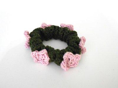Elastico per capelli con fiori