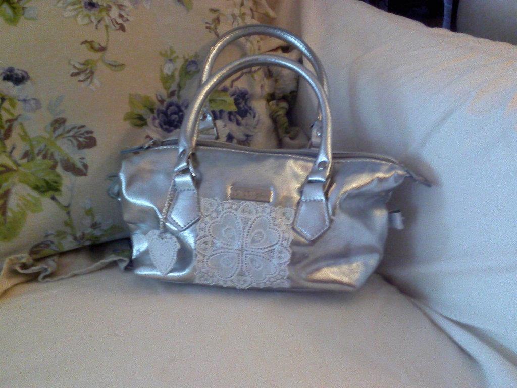 Mini Bag Argento e Vecchi Merletti