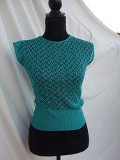 maglietta bimba cotone traforata maglia