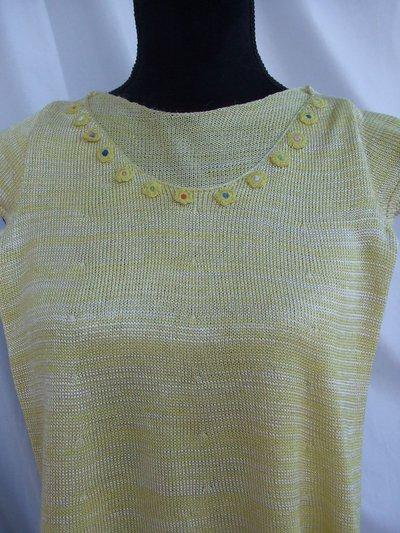 maglia bimba cotone viscosa fiorellini