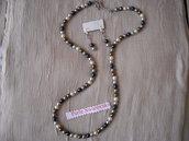 Collana Swarovski perle Original, lunga. Civitavecchia.