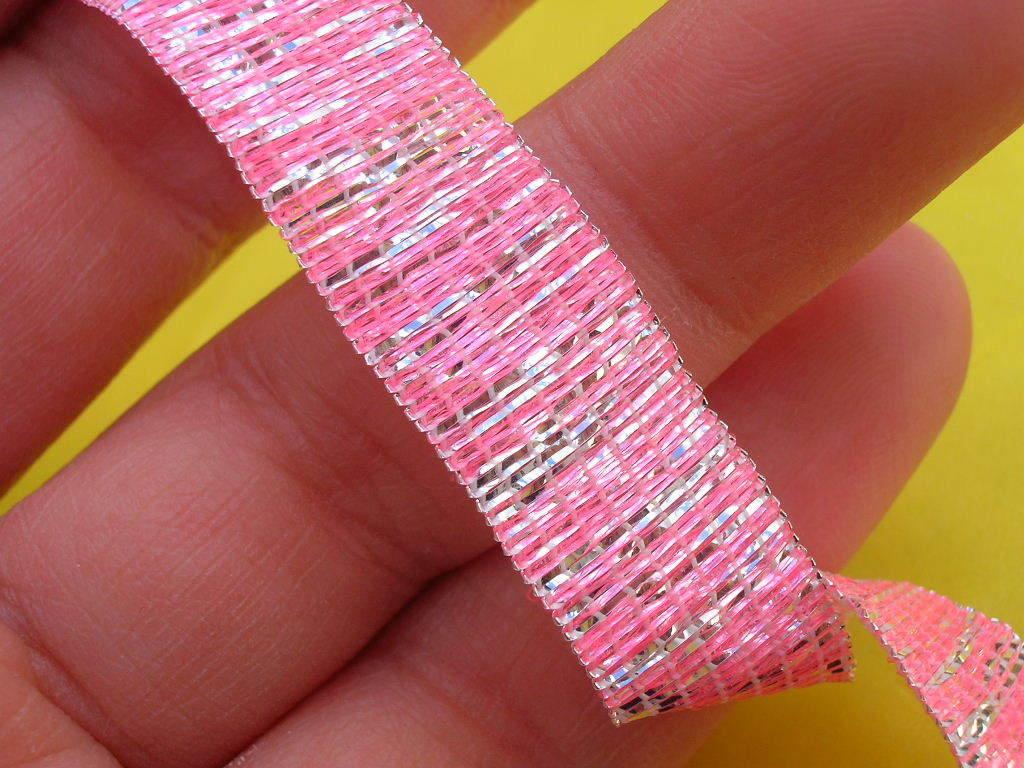 Elastico rosa lurex
