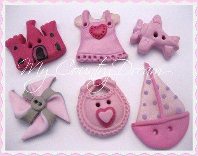 "Bottoni Artigianali ""Little Girl"""