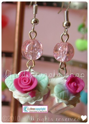 "Orecchini/Earrings ""I ♥ cupcakes"""