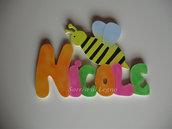 Nome Nicole realizzato in legno da appendere