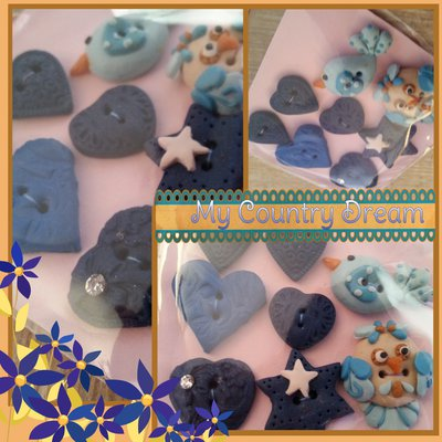 "Bottoni Artigianali ""Blue Bird"""