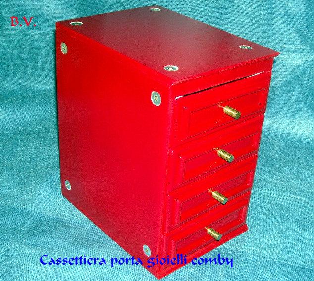 Cassettiera porta trucchi comby