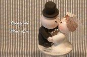 Mini cake topper Sposi in pasta di mais