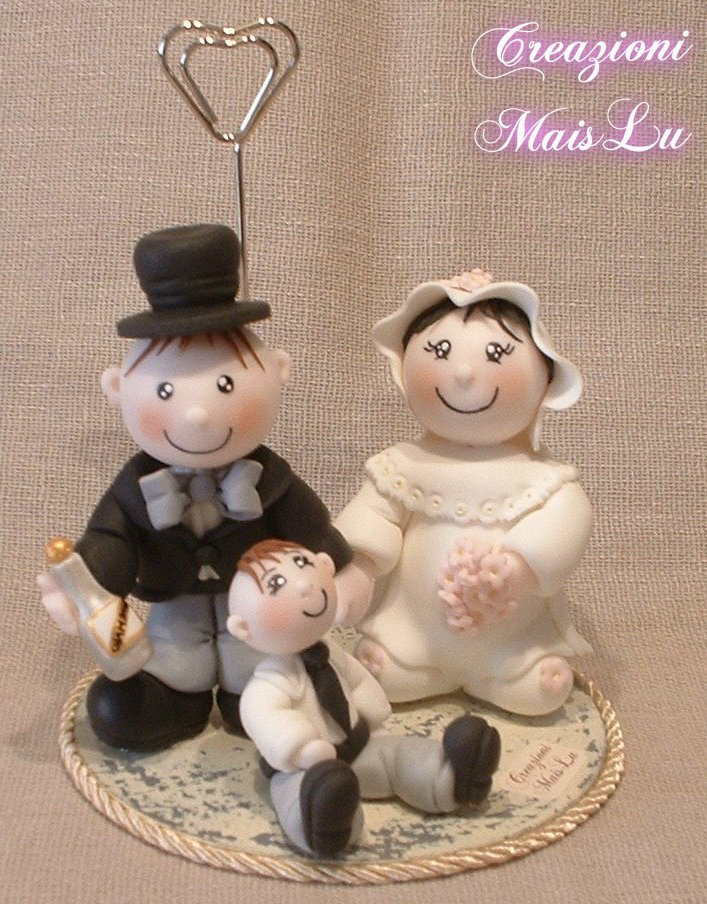 Cake Topper Matrimonio in pasta di mais