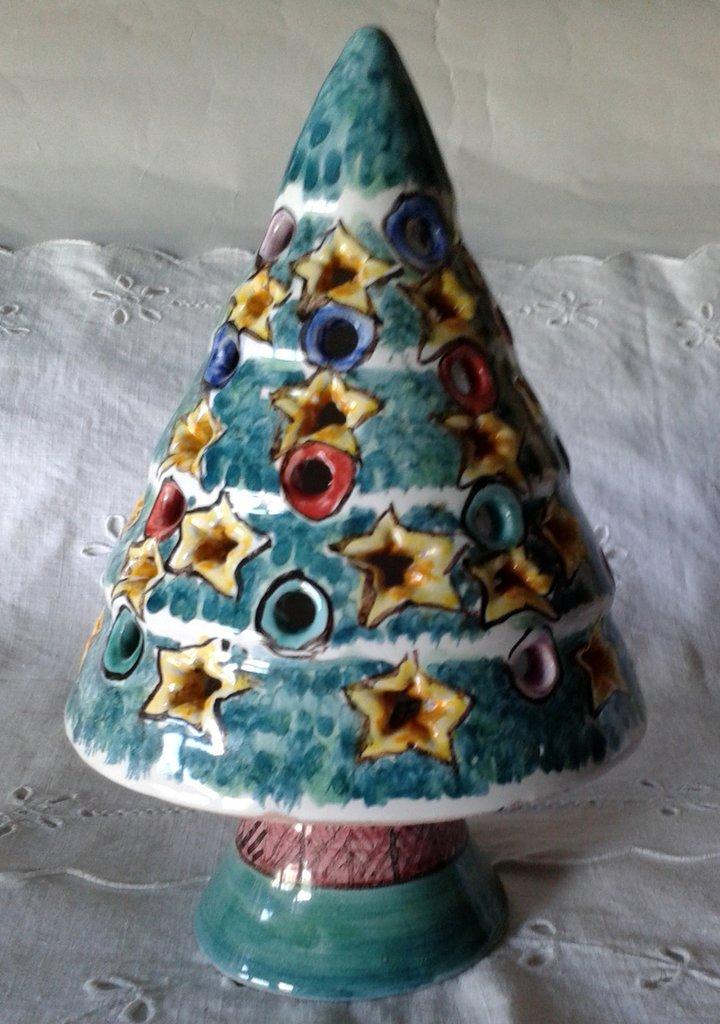 Alberello di  Natale Lumiere . Maiolica