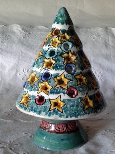 Alberello di Natale Lumiere. Maiolica