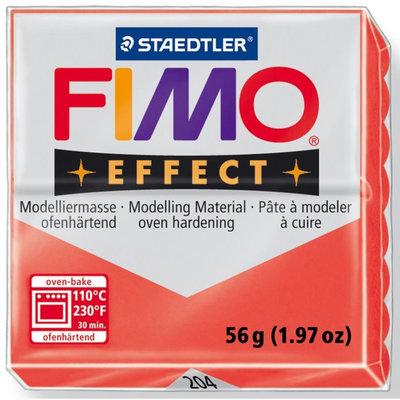 Panetto Fimo Effect 56 gr. - n. 204 Rosso Trasparente