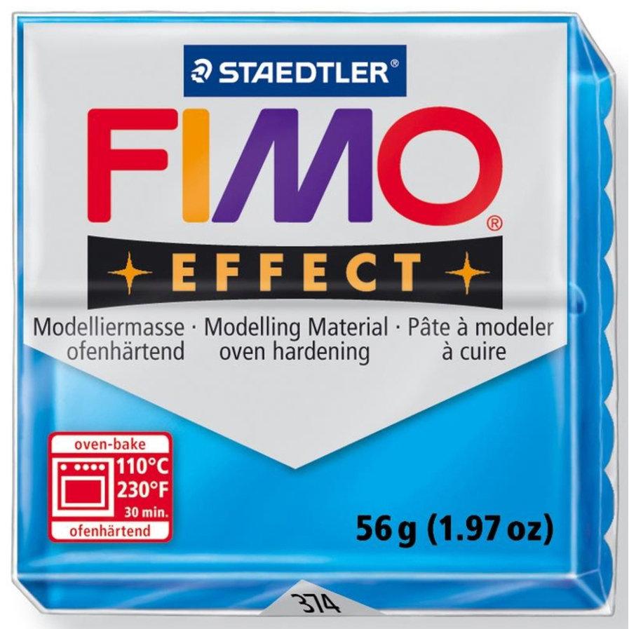 Panetto Fimo Effect 56 gr. - n. 374 Blu Trasparente