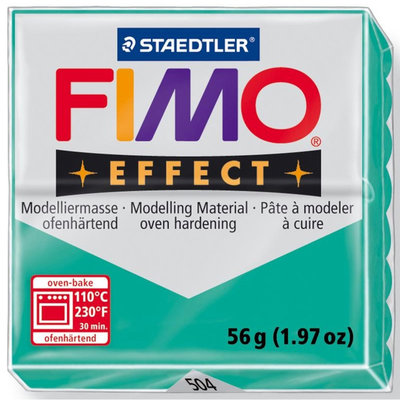 Panetto Fimo Effect 56 gr. - n. 504 Verde Trasparente