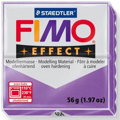 Panetto Fimo Effect 56 gr. - n. 604 Lilla Trasparente