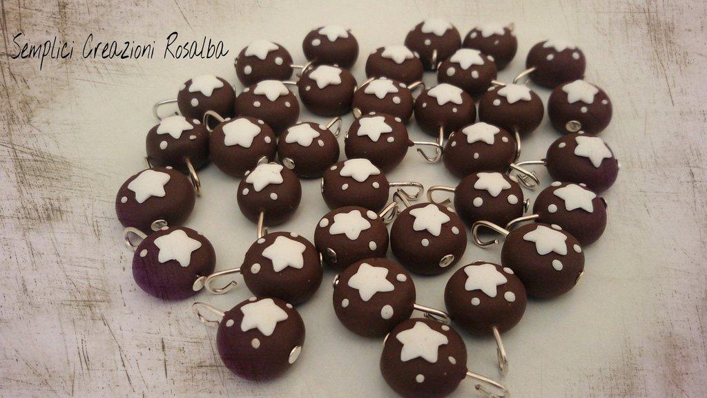 Ciondoli fimo pan di stelle, realistico, lotto ciondoli , fatti a mano, ideali per orecchini e bracciali..