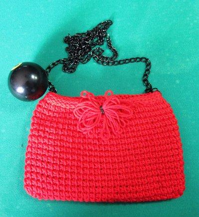 Pochette in cotone rosso