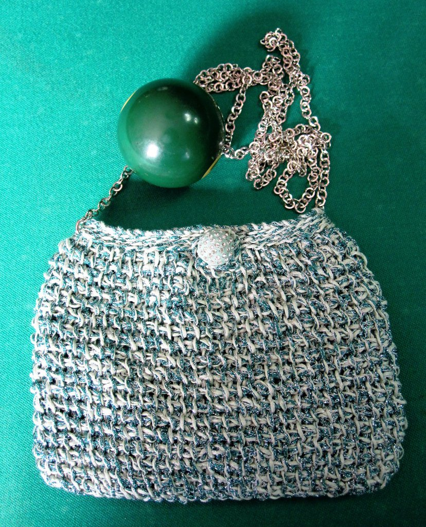 Pochette in cotone verde tiffany