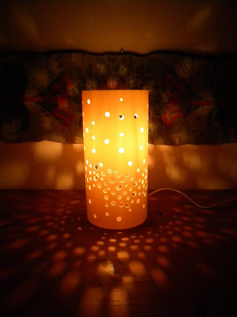 Emboletherium, lampada fatta a mano